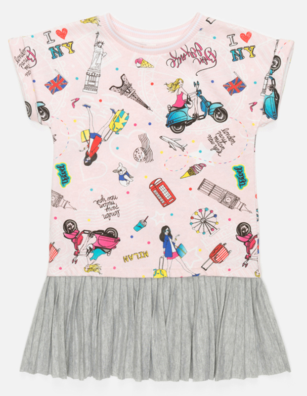 Платье для девочки Acoola Ovada, цвет: мультиколор. 20220200230_8000. Размер 12820220200230_8000Стильное платье Acoola для девочки позволит создать яркий летний образ для вашей маленькой модницы! Модель с круглым вырезом горловины и короткими рукавами. Платье выполнено из высококачественного материала. В таком платье ваша принцесса будет самая нарядная и модная.