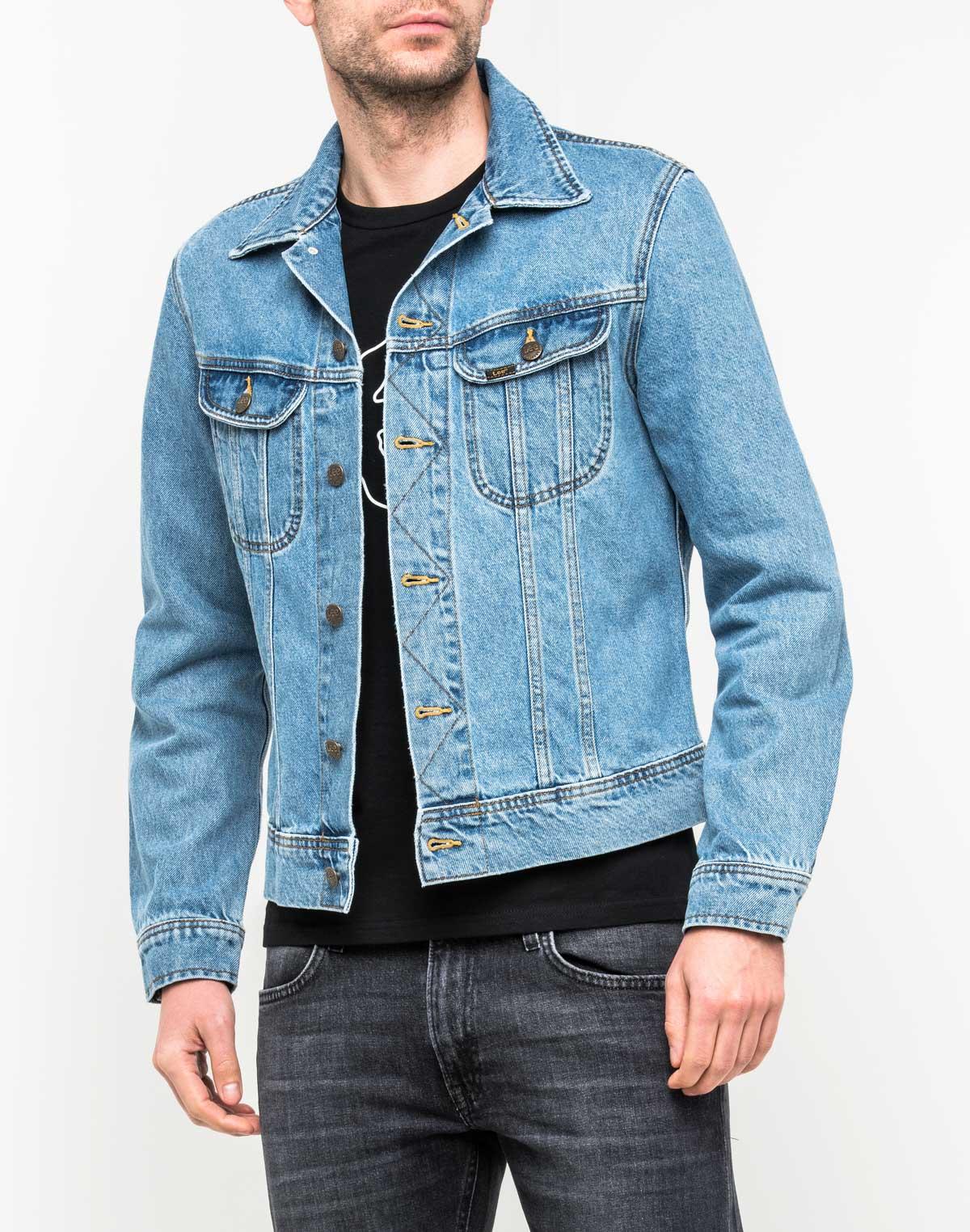 Куртка мужская Lee, цвет: синий. L89RRD66. Размер S (46) куртка джинсовая lee lee le807emaksy8