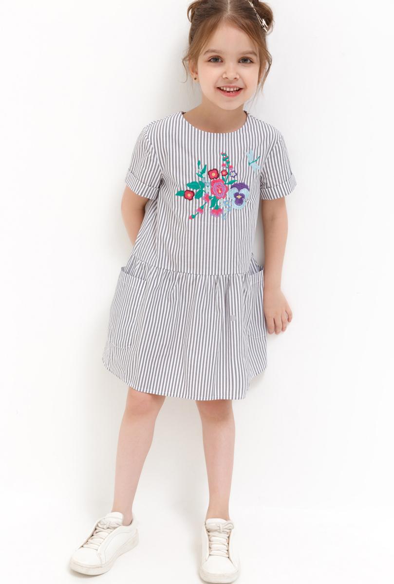 Платье для девочки Acoola Bellona, цвет: светло-серый. 20220200242_1800. Размер 110 acoola для девочки muse серый