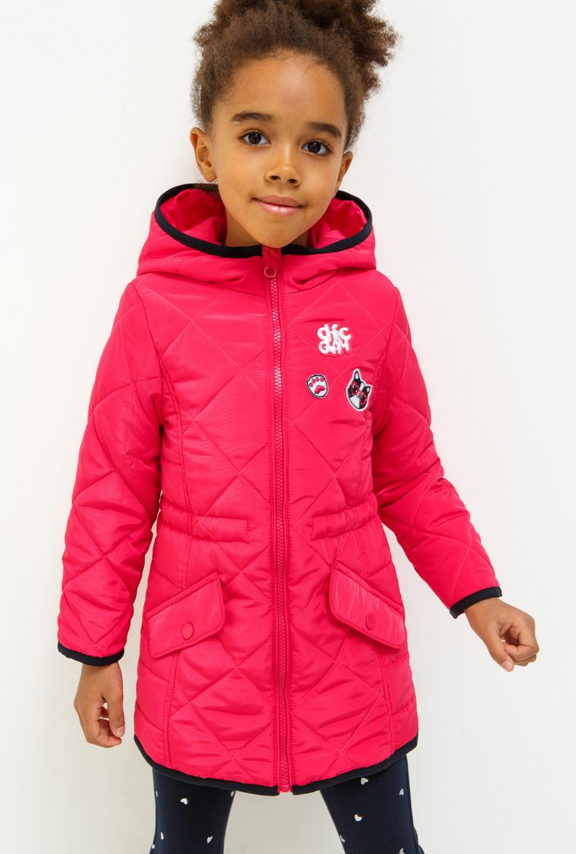 Пальто для девочки Acoola Buddie, цвет: розовый. 20220610020_1400. Размер 11620220610020_1400Пальто для девочки Acoola изготовлено из качественного полиэстера. Модель с капюшоном застегивается на молнию. Спереди модель дополнена карманами под клапанами, на талии имеется внутренняя резинка-утяжка.
