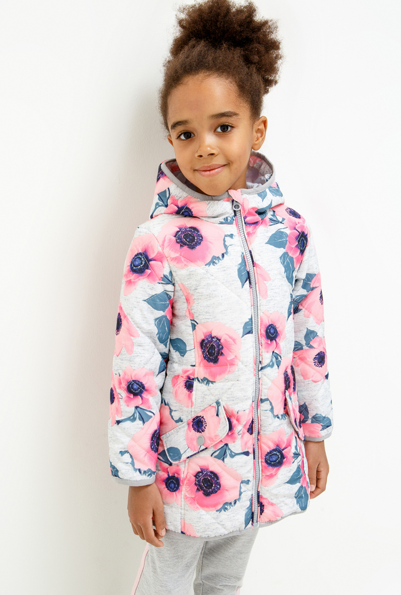 Пальто для девочки Acoola Buddie, цвет: серый. 20220610020_1900. Размер 128 acoola для девочки muse серый