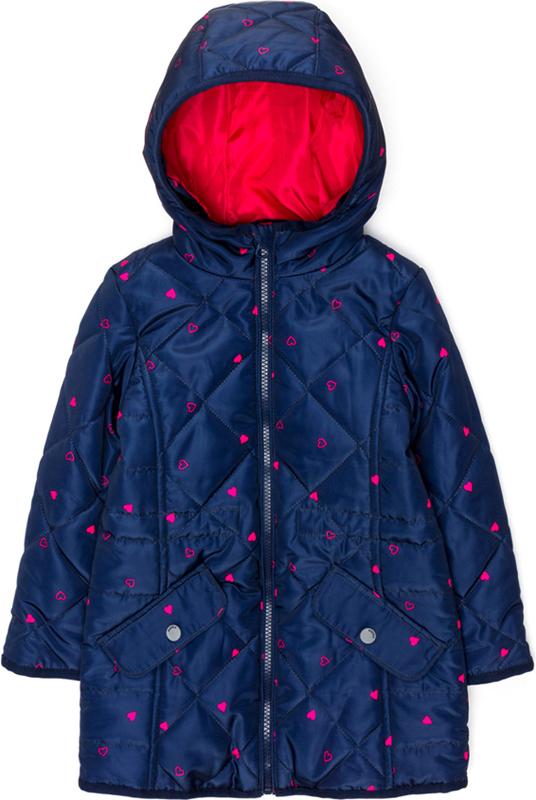 Пальто для девочки Acoola Buddie цвет темно-синий 20220610020600 Размер 122