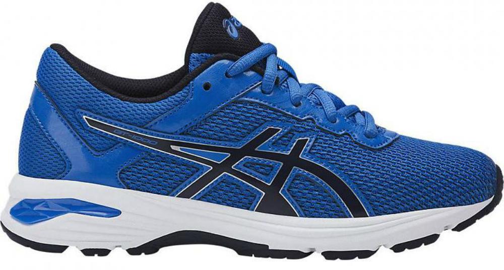Кроссовки для мальчика Asics Gt-1000 6 GS, цвет: голубой. C740N-4504. Размер 2 (32)C740N-4504Легкие кроссовки для мальчика Asics Gt-1000 6 Gs покорят вашего ребенка своим дизайном и функциональностью! Верх кроссовок выполнен из специальной дышащей сетки, которая обеспечивает оптимальный микроклимат внутри обуви. Промежуточная подошва из EVA и вставки Asics Gel в пяточной области обеспечивают превосходную поддержку и предохраняют ноги ребенка от усталости. В модели предусмотрена съемная стелька для простоты ухода и дополнительной амортизации. Светоотражающие элементы обеспечат безопасность в темное время суток.