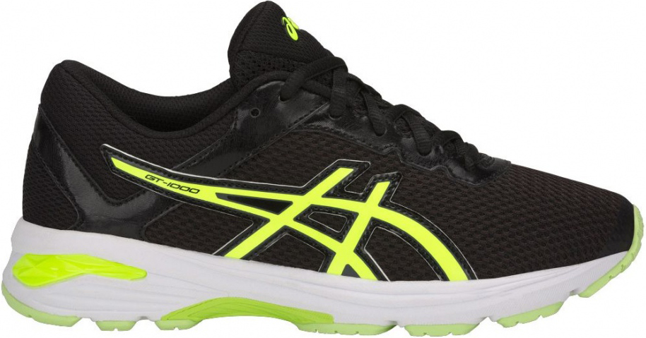 Кроссовки для мальчика Asics Gt-1000 6 GS, цвет: черный. C740N-9007. Размер 1 (31)C740N-9007Легкие кроссовки для мальчика Asics Gt-1000 6 Gs покорят вашего ребенка своим дизайном и функциональностью! Верх кроссовок выполнен из специальной дышащей сетки, которая обеспечивает оптимальный микроклимат внутри обуви. Промежуточная подошва из EVA и вставки Asics Gel в пяточной области обеспечивают превосходную поддержку и предохраняют ноги ребенка от усталости. В модели предусмотрена съемная стелька для простоты ухода и дополнительной амортизации. Светоотражающие элементы обеспечат безопасность в темное время суток.