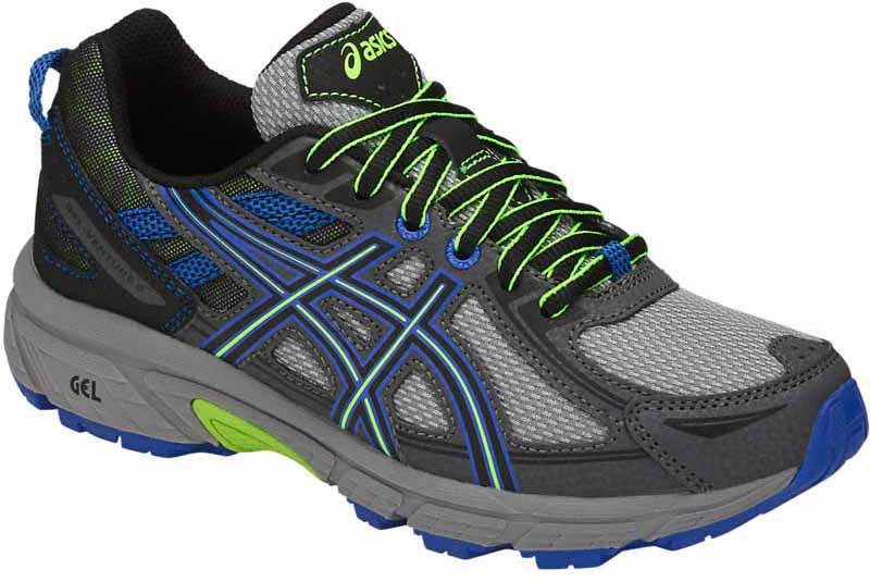 Кроссовки для мальчика Asics Gel-Venture 6 GS, цвет: серый, синий. C744N-1190. Размер 7 (38,5) кроссовки asics кроссовки gel fortitude 7 2e