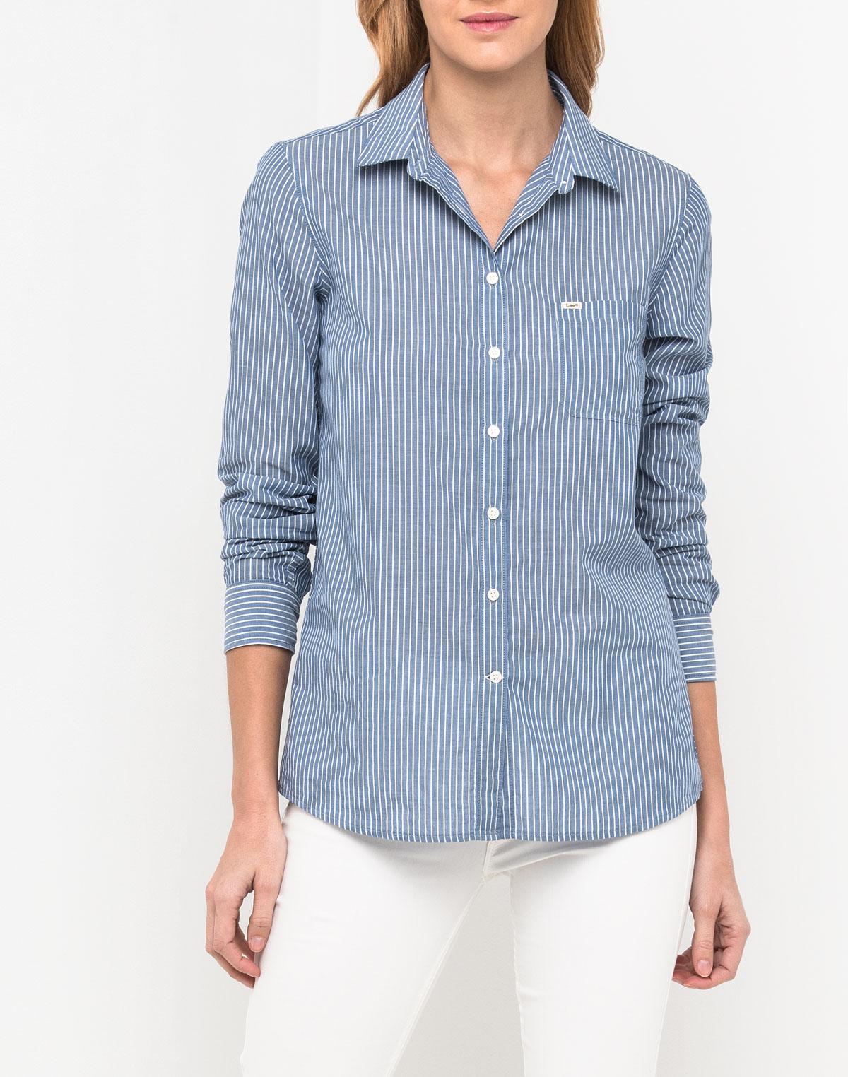 Блузка женская Lee, цвет: синий. L45QKPFE. Размер XL (48)L45QKPFE