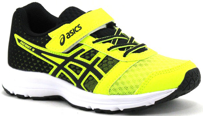 Кроссовки для мальчика Asics Patriot 9 PS, цвет: желтый. C807N-0790. Размер 1 (31)C807N-0790Легкие кроссовки Asics Patriot 9 PS предназначены для бега и ходьбы. На ноге модель фиксируется шнуровкой и дополнительно хлястиком на липучку. Средняя подошва Amplifoam. Стелька съемная.