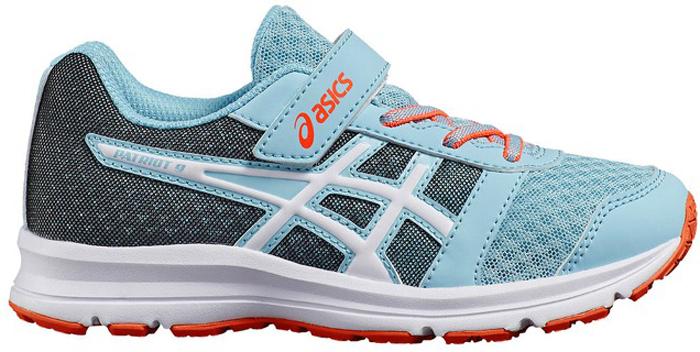 Кроссовки для девочки Asics Patriot 9 PS, цвет: голубой. C807N-1401. Размер 1 (31)C807N-1401