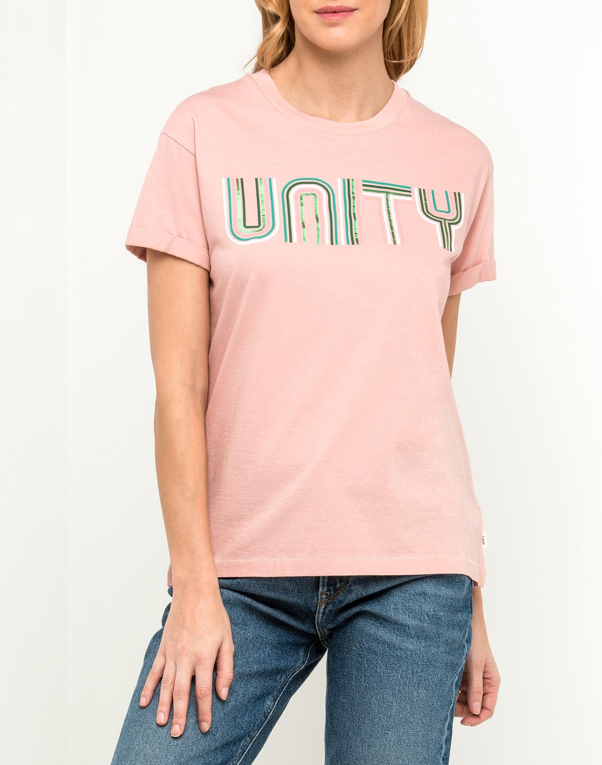 Футболка женская Lee, цвет: розовый. L41MEPEA. Размер XS (40) футболка женская lee цвет белый черный l41erweh размер xs 40