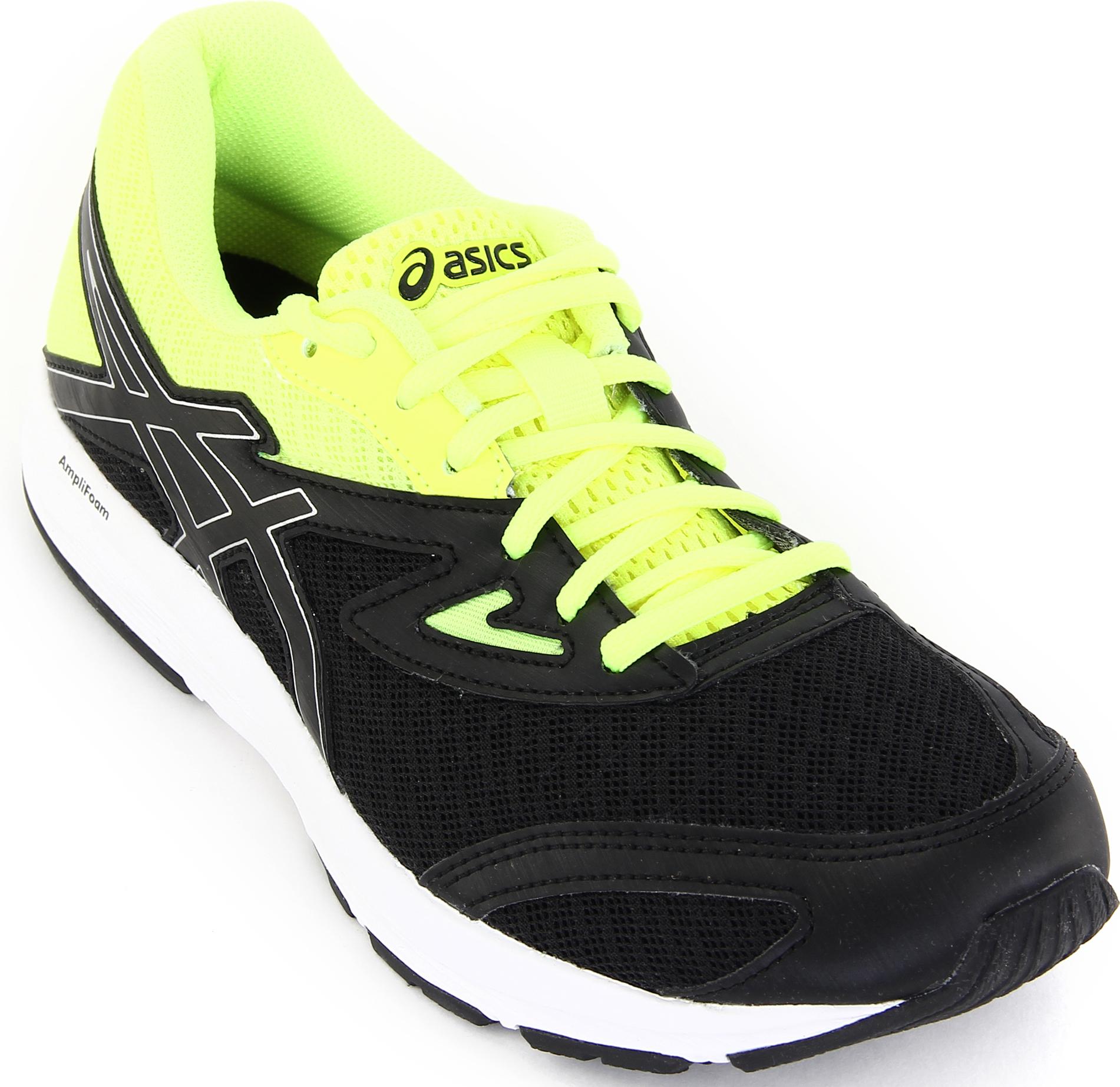 Кроссовки для мальчика Asics Amplica GS, цвет: черный. C808N-9093. Размер 4H (35,5)C808N-9093Легкие кроссовки Asics Amplica GS предназначены для бега и ходьбы на улице. Прочная модель для бега, тренировок и ходьбы в течение всего дня. Кроссовки дополнены шнуровкой.
