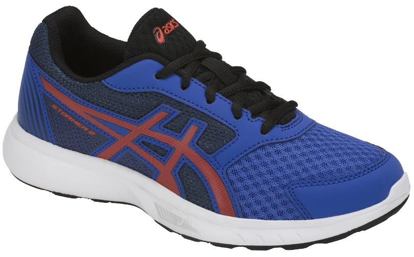 Кроссовки для мальчика Asics Stormer 2 GS, цвет: синий. C811N-4506. Размер 3 (33,5)C811N-4506