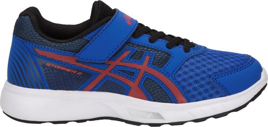 Кроссовки для мальчика Asics Stormer 2 PS, цвет: синий. C812N-4506. Размер 2 (32)C812N-4506