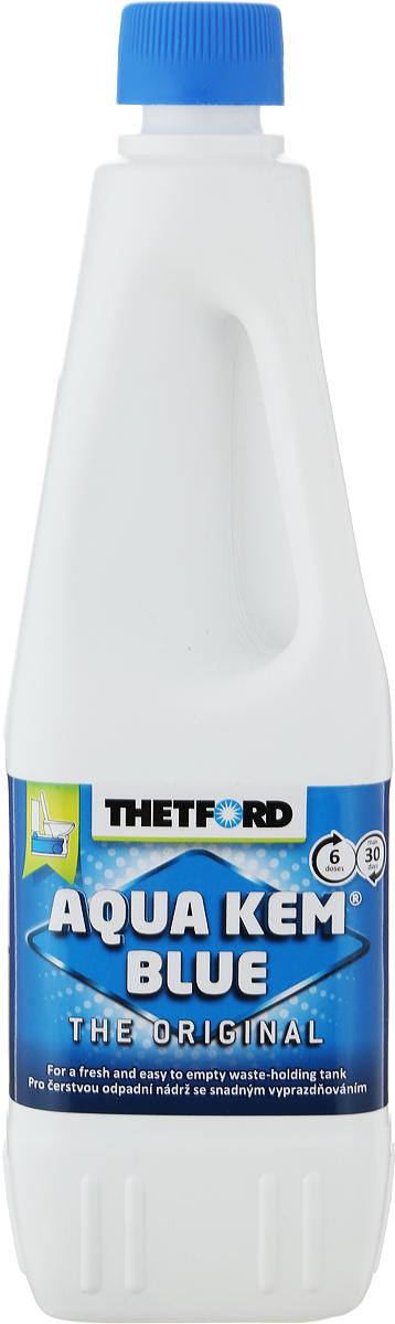 Жидкость для септиков и биотуалетов Thetford АкваКемБлю, 1 л порошок для септиков и биотуалетов thetford для биотуалета aqua kem blue sach 12 шт