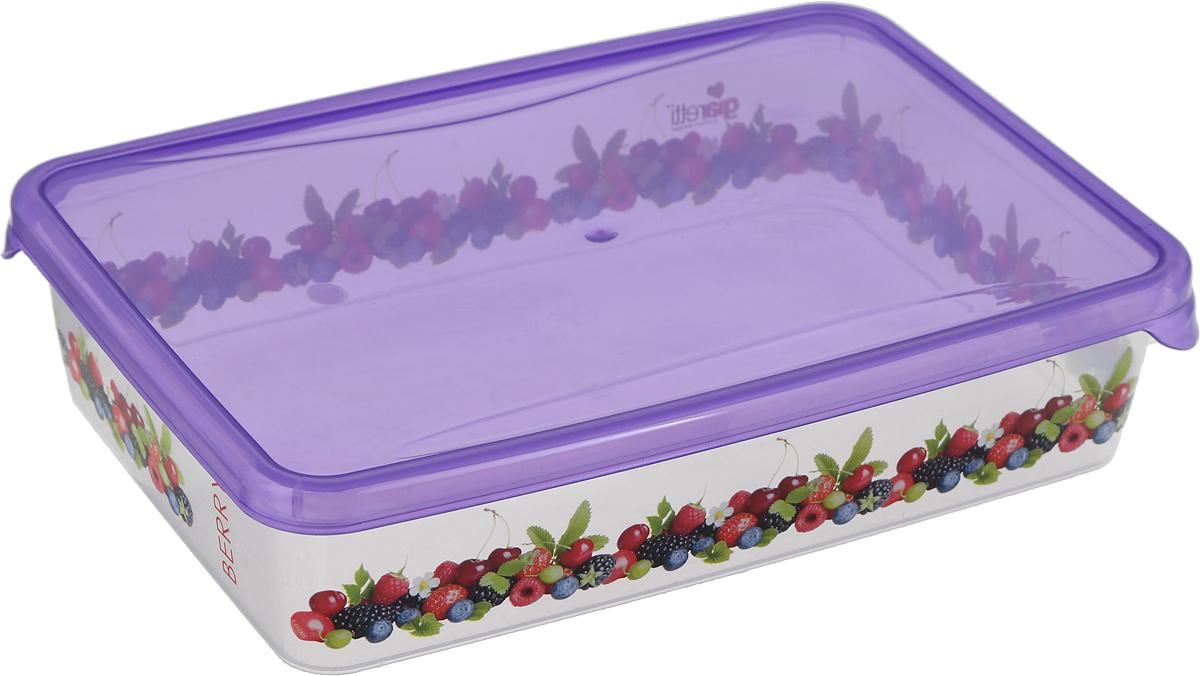 Емкость для продуктов Giaretti Браво, цвет: фиолетовый, прозрачный, 900 мл. GR1068GR1068_фиолетовыйЕмкость для продуктов Giaretti Браво изготовлена из пищевого полипропилена. Крышкаплотно закрывается, дольше сохраняя продукты свежими. Боковые стенки прозрачные, чтопозволяет видеть содержимое.Емкость идеально подходит для хранения пищи, фруктов,ягод, овощей.Такая емкость пригодится в любом хозяйстве.Уважаемые клиенты!Обращаем ваше внимание на возможные изменения в дизайне рисунка на товаре. Поставка осуществляется в зависимости от наличия на складе.