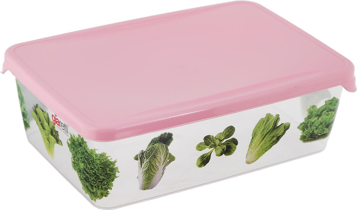 Емкость для продуктов Giaretti Браво, цвет: розовый, 1,35 л. GR1069GR1069_розовыйУважаемые клиенты!Обращаем ваше внимание на возможные изменения в дизайне рисунка на товаре. Поставка осуществляется в зависимости от наличия на складе.