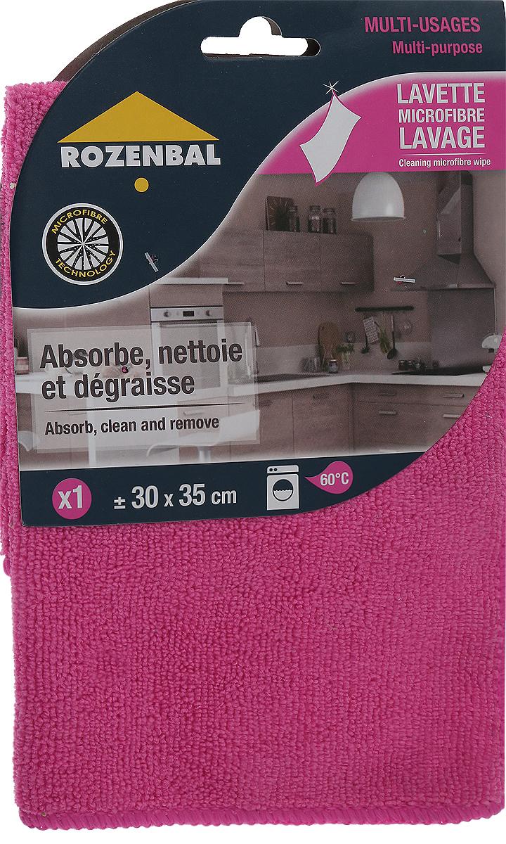 Салфетка Rozenbal, многофункциональная, цвет: розовый, 30 х 35 смR212761