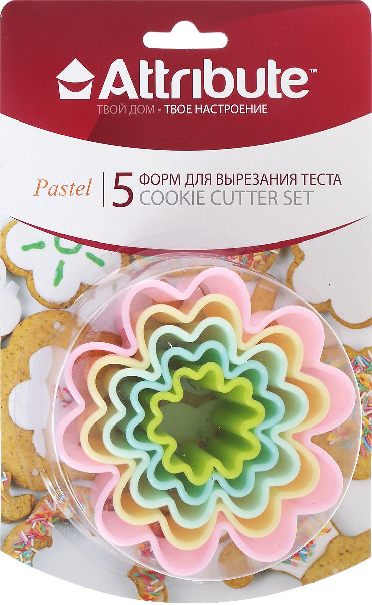 Набор форм для вырезания теста Attribute Pastel. Цветок, 5 шт набор форм для вырезания теста attribute pastel цветок 5 шт