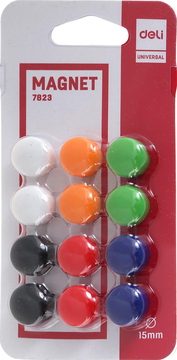 Deli Магнит для досок 15 мм 12 штE7823Магнит для досок Deli предназначен для фиксирования информации на металлических поверхностях.Диаметр магнитного держателя - 15 мм.В упаковке 12 магнитов шести цветов.Уважаемые клиенты! Обращаем ваше внимание на то, что упаковка может иметь несколько видов дизайна. Поставка осуществляется в зависимости от наличия на складе.