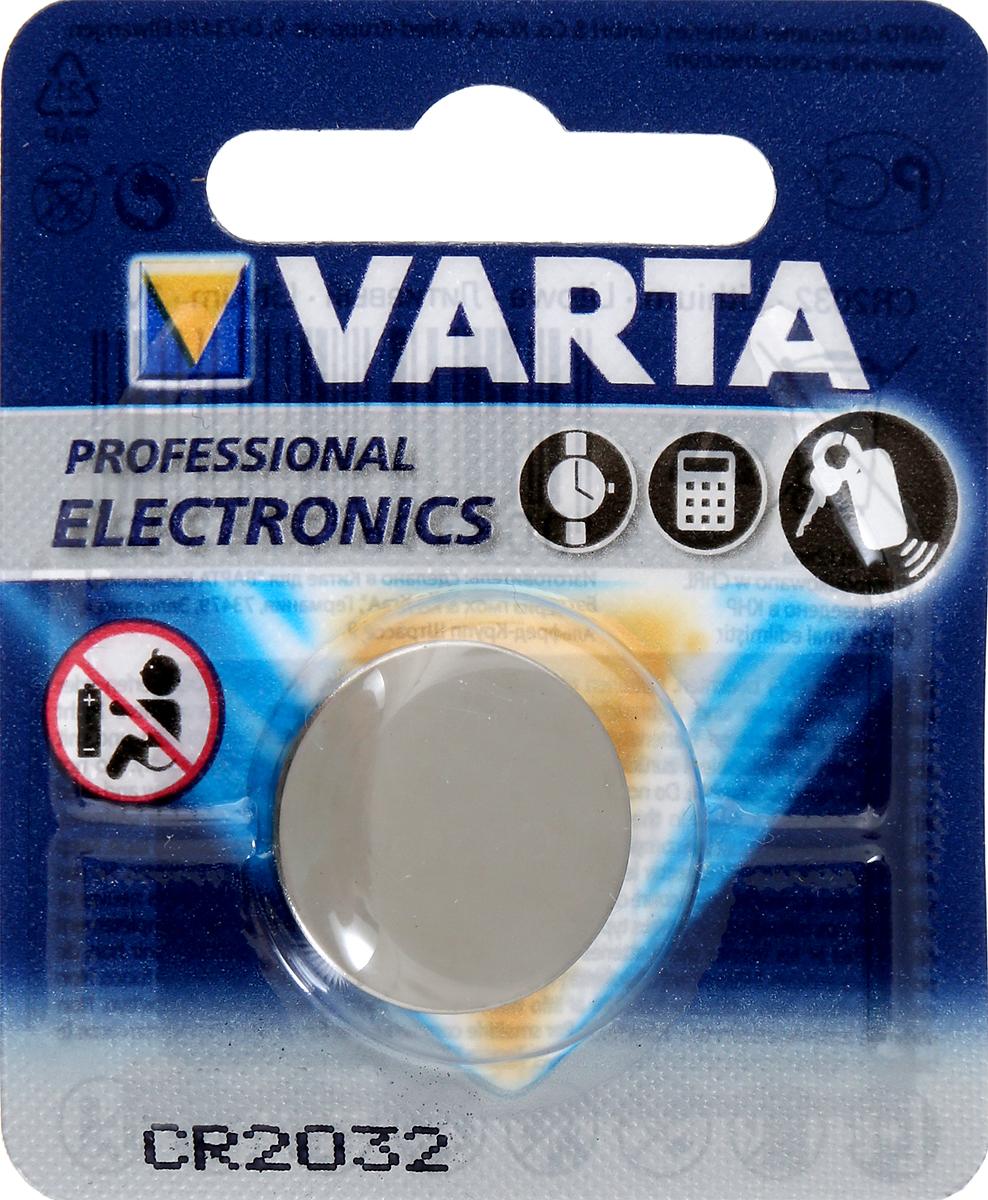 Батарейка литиевая Varta Professional Electronics, тип CR2032, 3ВCR 2032Литиевые батарейки Varta Professional Electronics оптимально подходят для повседневного питания множества современных бытовых приборов: электронных игрушек, фонарей, беспроводной компьютерной периферии и многого другого. Батарейки созданы для устройств со средним и высоким потреблением энергии. Работают в 10 раз дольше, чем обычные солевые элементы питания. Диаметр батарейки: 2 см.Уважаемые клиенты! Обращаем ваше внимание на то, что упаковка может иметь несколько видов дизайна. Поставка осуществляется в зависимости от наличия на складе.