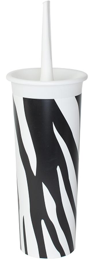 Ершик для туалета Svip Декор. Зебра, с подставкой900663Комплект WC Декор – это изделие для уборки «высокого среднего» ценового сегмента. Наружная поверхность комплекта декорирована современным узором. Комплект предназначен для чистки сантехники в туалетной комнате. Сделан из высококачественного материала – толстые прочные стенки не трескаются даже при сильном нажатии. Этот комплект обладает дополнительным преимуществом – ерш для очистки после использования помещается для хранения в глубокий стакан, тем самым, обеспечивается эстетика и гигиена.