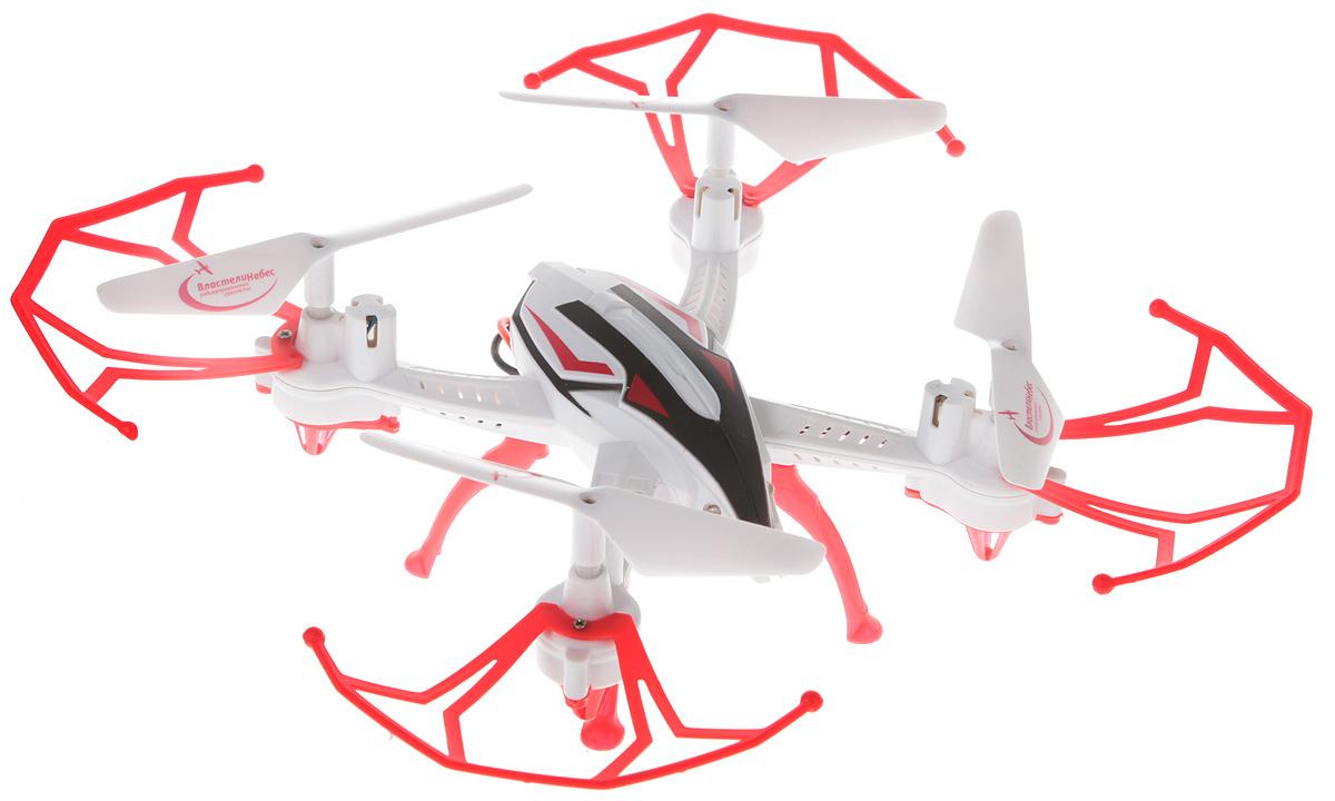 Властелин небес Квадрокоптер на радиоуправлении Зоркий цвет белый красный властелин небес вертолет на радиоуправлении ветерок цвет зеленый