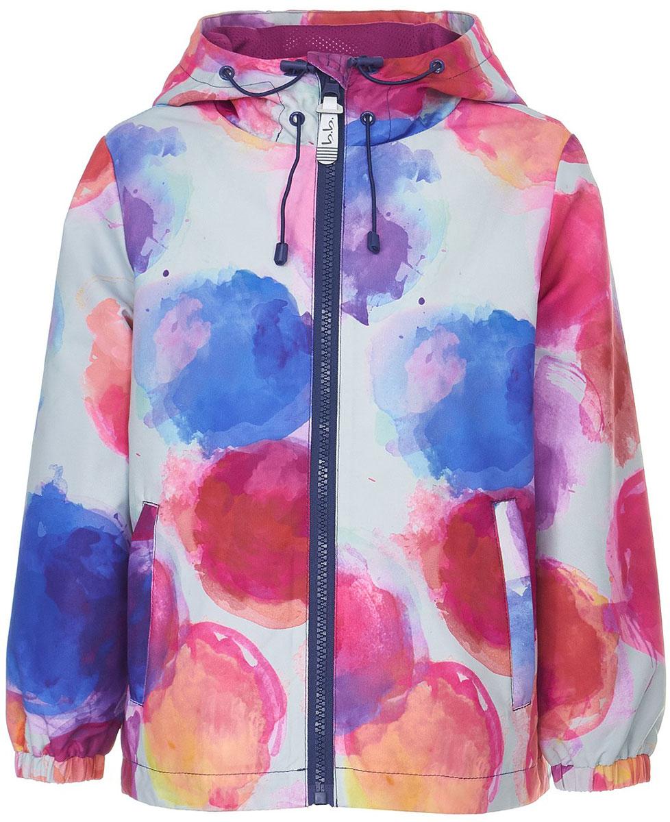 Ветровка для девочки Button Blue, цвет: голубой, розовый, белый. 118BBGA40011813. Размер 116118BBGA40011813Яркая и позитивная куртка-ветровка от Button Blue всегда поднимет настроение, даже в самый ветреный и дождливый день! Модель с длинными рукавами и капюшоном застегивается на молнию, по бокам дополнена втачными карманами. Куртка может похвастать не только модным дизайном и оригинальным рисунком, она удобная, свободная и дарит своей владелице максимальный комфорт. Отличный вариант для того, кто ищет качественную вещь по выгодной цене.Модель рассчитана на температуру от +15°C до 0°C.