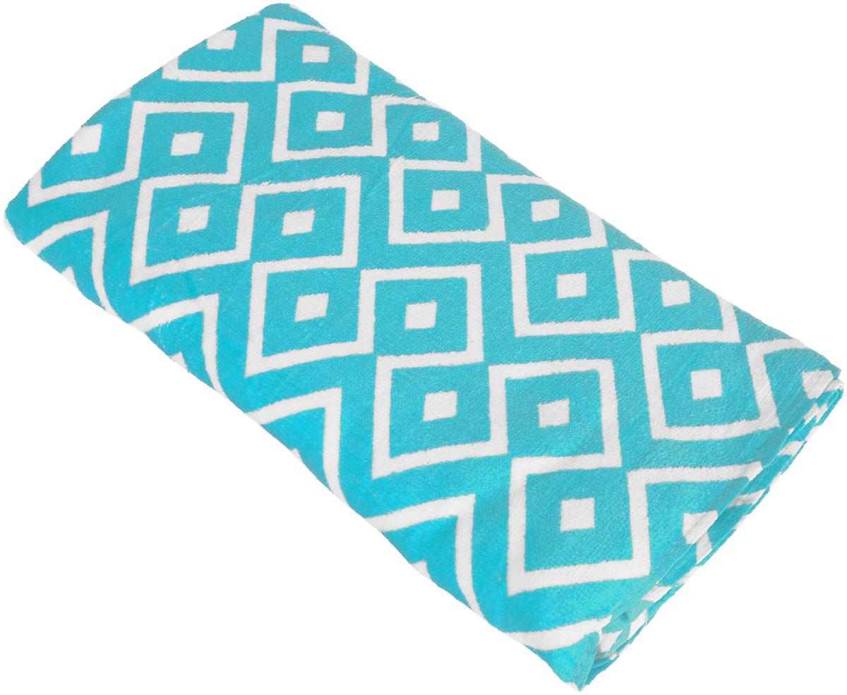 Полотенце пляжное Bonita, цвет: бирюзовый, белый, 75 x 150 см1010216673_бирюзовый, белый/ромбПляжное полотенце Bonita выполнено из 100% хлопка. Изделие отлично впитывает влагу, быстро сохнет, сохраняет яркостьцвета и не теряет форму даже после многократных стирок.Такое полотенце очень практично и неприхотливо в уходе. Оно создаст прекрасное настроение и отлично подойдет для использования дома и напляже.