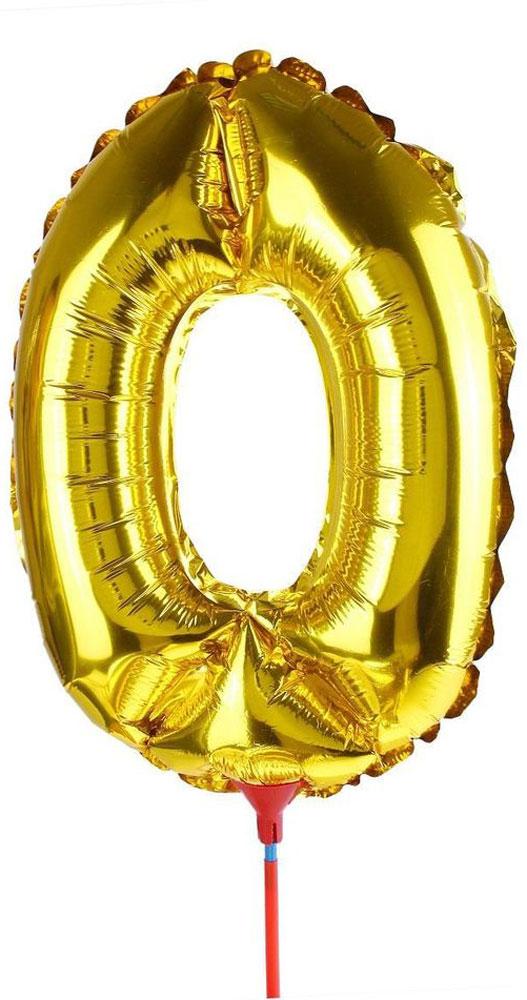 Sima-land Шар воздушный Цифра 0 цвет золотой надежное