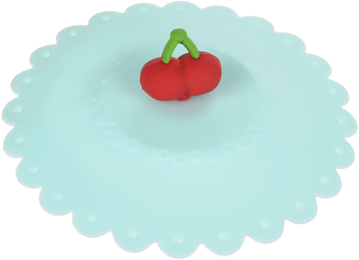 Крышка на чашку Paterra, силиконовая, цвет: мятный, 11 х 3,5 см402-764_мятныйКрышка на чашку Paterra, силиконовая, цвет: мятный, 11 х 3,5 см