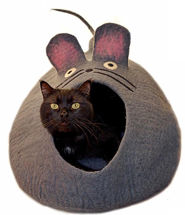 Домик для животных Dharma Dog Karma Cat  Мышь , цвет: серый - Лежаки, домики, спальные места