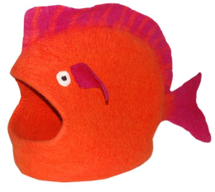 Домик для животных Dharma Dog Karma Cat  Рыба , цвет: оранжевый - Лежаки, домики, спальные места