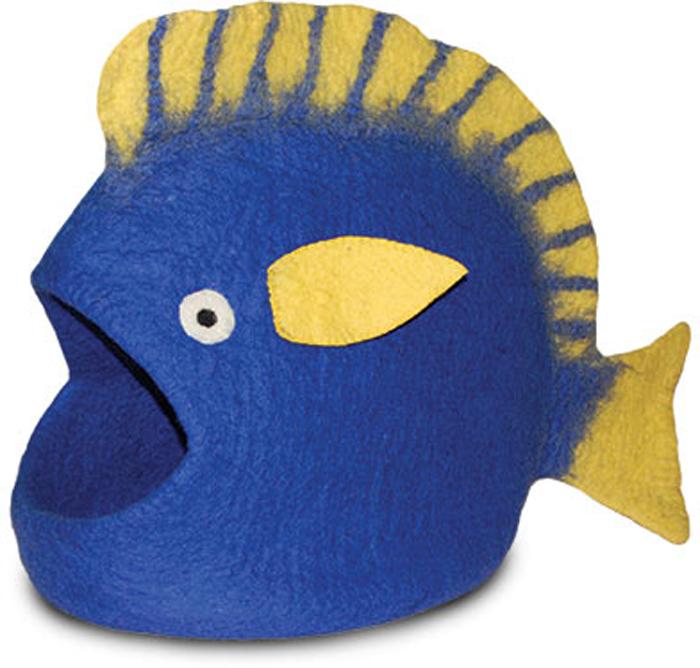 Домик для животных Dharma Dog Karma Cat  Рыба , цвет: синий - Лежаки, домики, спальные места