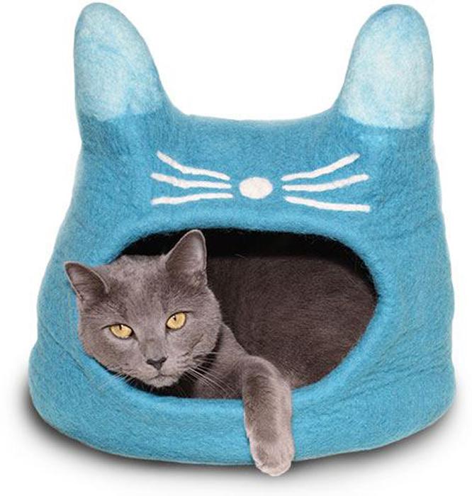 Домик для животных Dharma Dog Karma Cat  Кот , цвет: бирюзовый - Лежаки, домики, спальные места