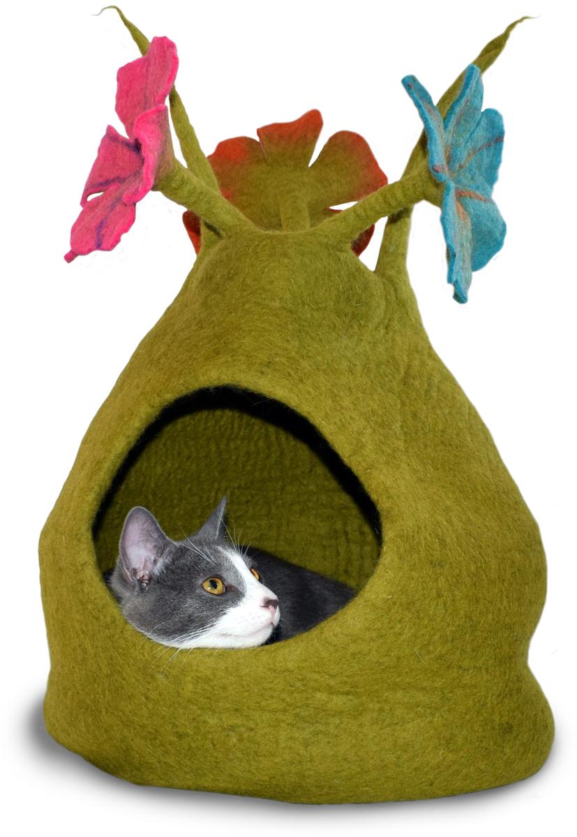 Домик для животных Dharma Dog Karma Cat  Букет , цвет: зеленый, голубой, розовый - Лежаки, домики, спальные места