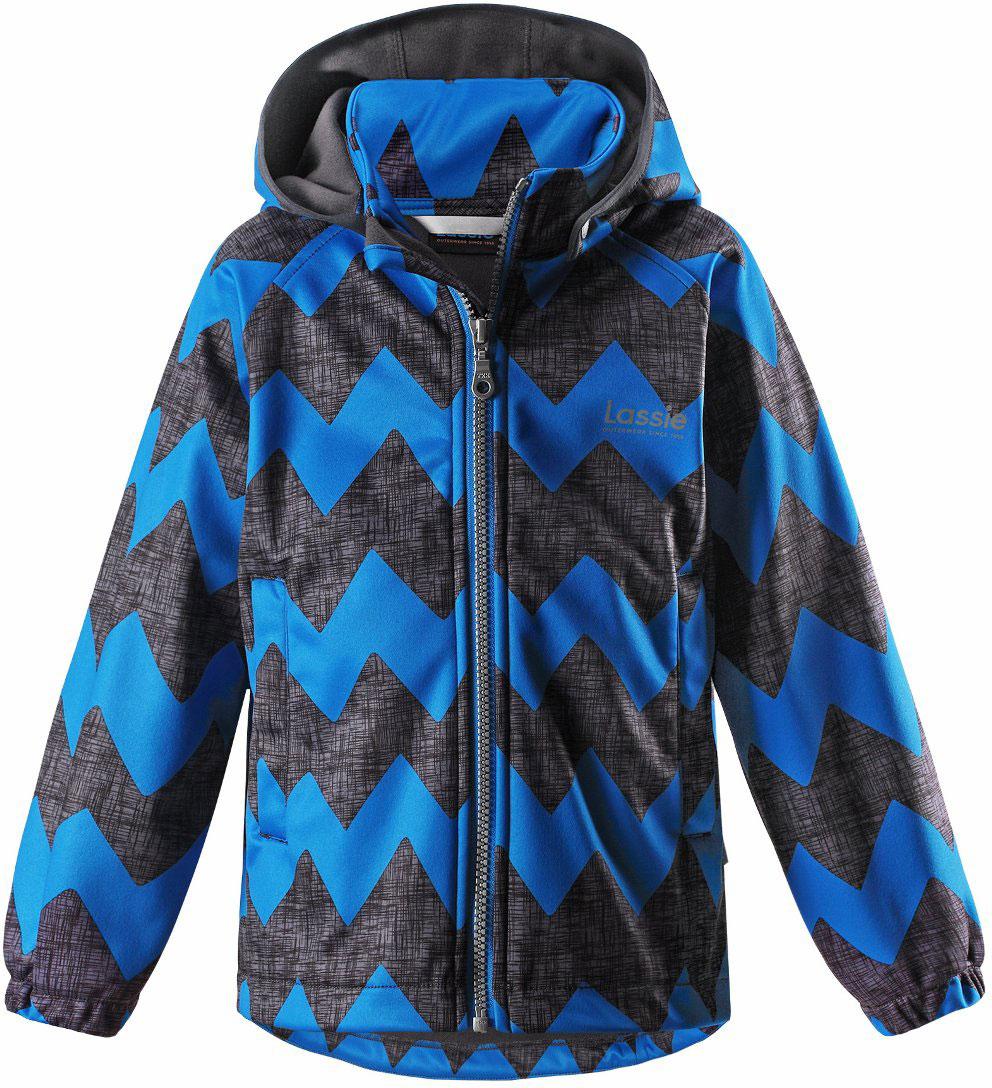 Куртка детская Lassie, цвет: синий. 7217236611. Размер 987217236611Детская куртка Lassie идеально подойдет для ребенка в холодное время года. Куртка изготовлена из водоотталкивающей и ветрозащитной ткани. Материал отличается высокой устойчивостью к трению, благодаря специальной обработке полиуретаном поверхность изделия отталкивает грязь и воду, что облегчает поддержание аккуратного вида одежды, дышащее покрытие с изнаночной части не раздражает даже самую нежную и чувствительную кожу ребенка, обеспечивая ему наибольший комфорт. Куртка застегивается на пластиковую застежку-молнию с защитой подбородка, благодаря чему ее легко надевать и снимать. Края рукавов дополнены неширокими эластичными манжетами. Спереди куртка дополнена двумя прорезными кармашками. Также модель дополнена светоотражающими элементами для безопасности в темное время суток. Все швы проклеены, не пропускают влагу и ветер.
