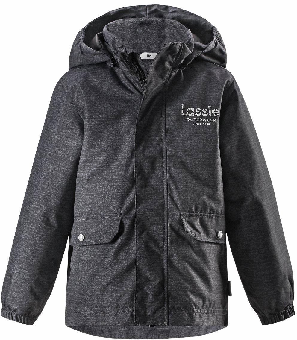 Куртка для мальчика Lassie, цвет: серый. 7217299261. Размер 987217299261Детская куртка Lassie идеально подойдет для ребенка в холодное время года. Куртка изготовлена из водоотталкивающей и ветрозащитной ткани. Материал отличается высокой устойчивостью к трению, благодаря специальной обработке полиуретаном поверхность изделия отталкивает грязь и воду, что облегчает поддержание аккуратного вида одежды, дышащее покрытие с изнаночной части не раздражает даже самую нежную и чувствительную кожу ребенка, обеспечивая ему наибольший комфорт. Куртка застегивается на комбинированную застежку с защитой подбородка, благодаря чему ее легко надевать и снимать. Края рукавов дополнены неширокими эластичными манжетами. Также модель дополнена светоотражающими элементами для безопасности в темное время суток. Все швы проклеены, не пропускают влагу и ветер.