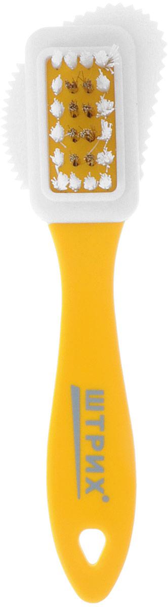 Щетка для замши, нубука и велюра Штрих Основной уход, тройная, цвет: желтый91245338/т0001382_желтый;91245338/т0001382_желтыйЩетка Штрих Основной уход, изготовленная из пластика и резины, предназначена для бережнойчистки и обновления изделий из замши, нубука, велюра.С помощью щетины из искусственноговорса и латуни щетка эффективно удаляет поверхностные загрязнения и обновляет внешнийвид изделий.