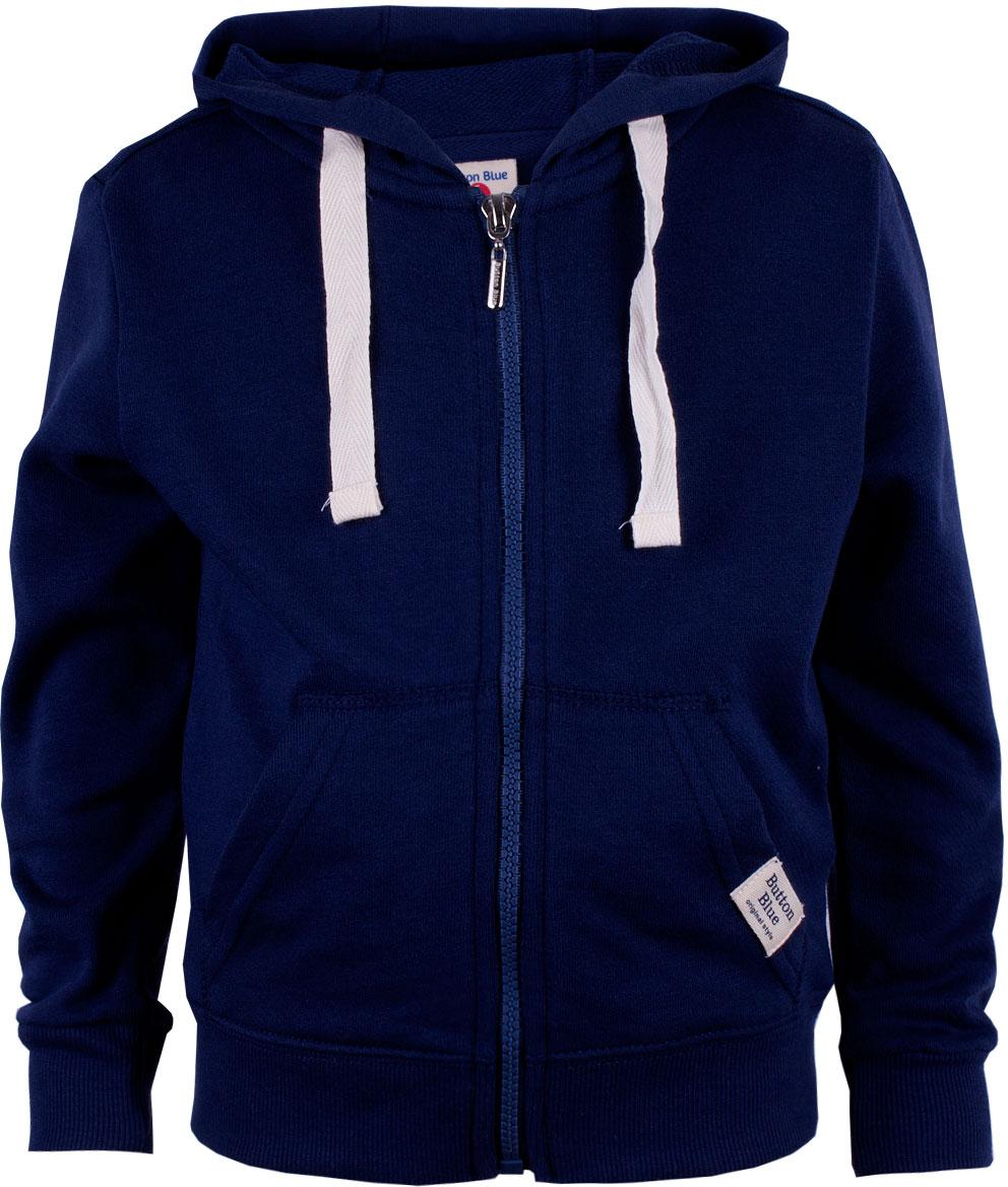 Толстовка для мальчика Button Blue, цвет: темно-синий. 118BBBC16011000. Размер 158 button blue шапка для мальчика button blue