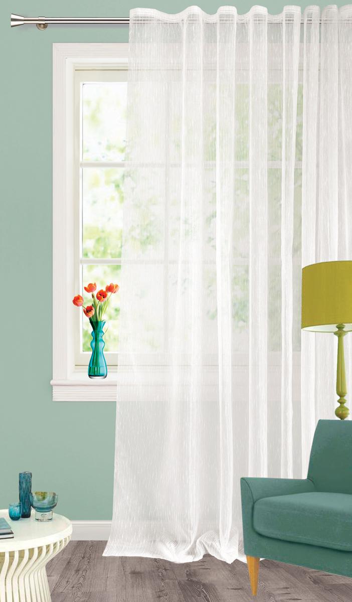 Штора Garden, на ленте, цвет: белый, высота 260 см. С 537651 V1С 537651 V1Тюлевая штора Garden выполнена органзы белого цвета. Подходит для гостиной и спальни.Приятная текстура и цвет штор привлекут к себе внимание и органично впишутся в интерьерпомещения. Штора крепится на карниз при помощи ленты, которая поможет красиво и равномернозадрапировать верх.