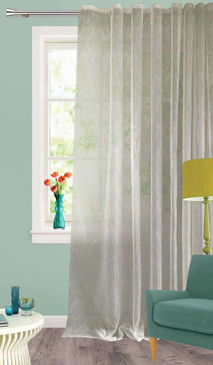 Изящная штора Garden выполнена из органзы светло-серого цвета.. Полупрозрачная ткань, хорошо подойдет для солнечной комнаты. Приятная текстура и цвет штор привлекут к себе внимание и органично впишутся в интерьер помещения.   Штора крепится на карниз при помощи ленты, которая поможет красиво и равномерно задрапировать верх.