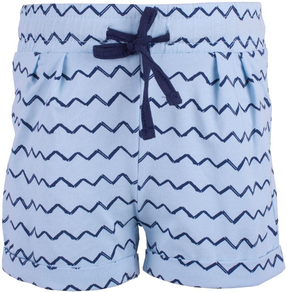 Шорты для девочки Button Blue, цвет: голубой. 118BBGC54011813. Размер 116118BBGC54011813Трикотажные шорты на резинке идеальны для жаркой погоды. Если вы хотите пополнить летний гардероб ребенка, можно дешево купить детские шорты для девочки от Button Blue. Модель выполнена из мягкой легкой ткани, удобна и практична. Модный в этом сезоне цвет и орнамент в виде волнистых полосок обращают на себя внимание и делают модель оригинальной.