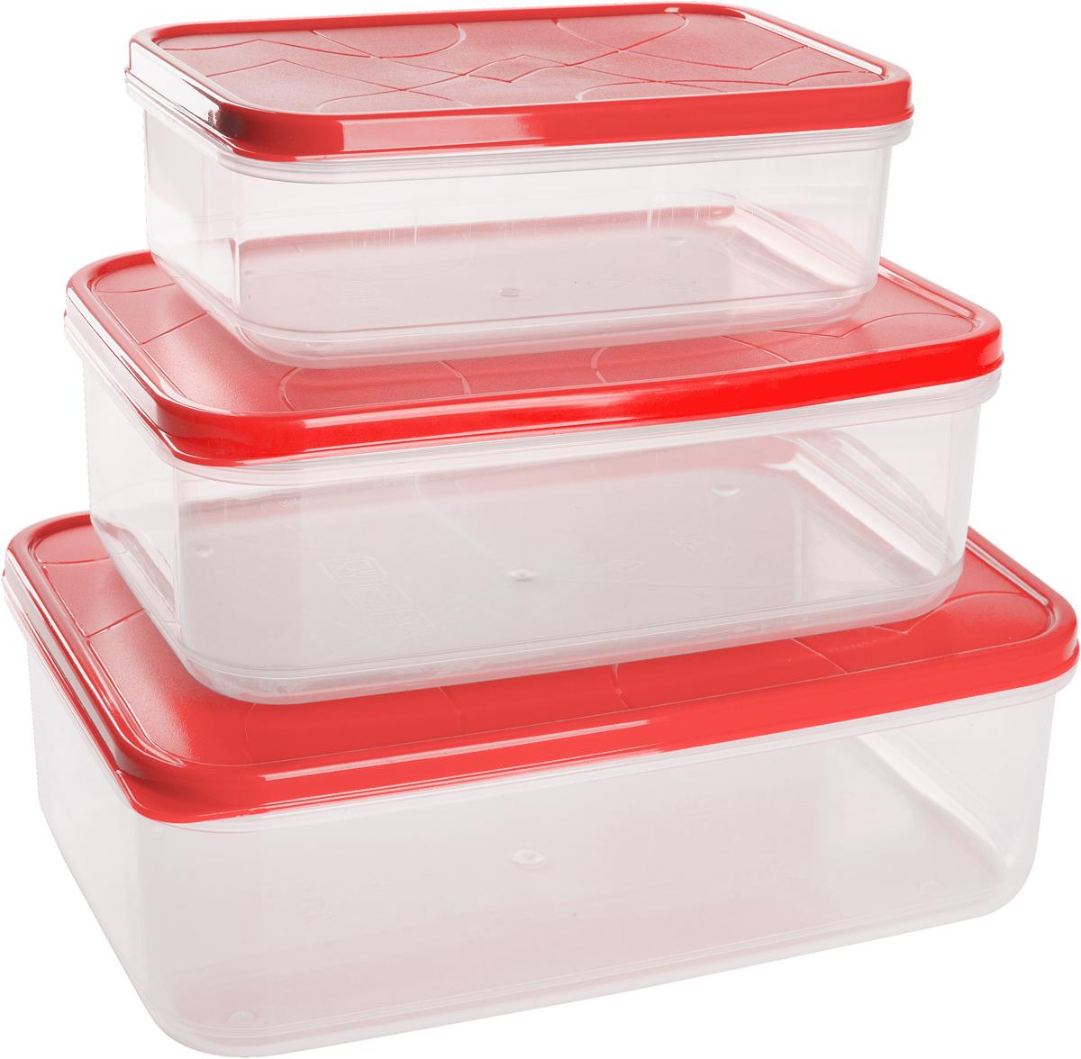 Набор контейнеров для продуктов Giaretti Vitamino, прямоугольные, цвет: клубничный лед, 0,5 л + 1 л + 1,5 лGR1856КЛПоложить в холодильник остатки еды, взять с собой обед в дорогу, заморозить овощи на зиму – все это можно сделать с контейнерами Vitamino. Контейнеры можно использовать для заморозки и хранения продуктов. Подходят для микроволновой печи. А благодаря плотной полиэтиленовой крышке еда дольше сохраняет свою свежесть. Контейнеры вкладываются друг в друга по принципу матрешки экономя пространство при хранении.