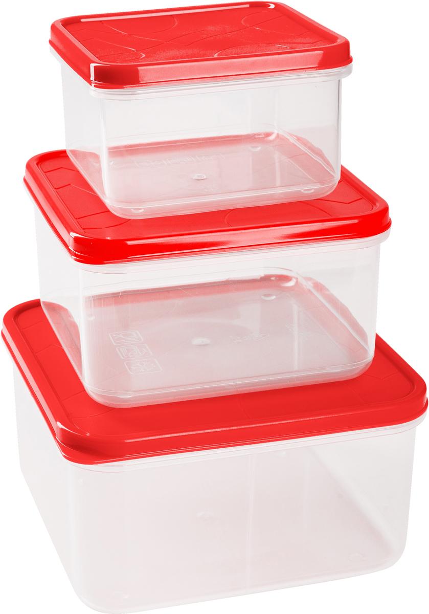 Набор контейнеров для продуктов Giaretti Vitamino, квадратные, цвет: клубничный лед, 0,4 л + 0,7 л + 1,2 лGR1858КЛПоложить в холодильник остатки еды, взять с собой обед в дорогу, заморозить овощи на зиму – все это можно сделать с контейнерами Vitamino. Контейнеры можно использовать для заморозки и хранения продуктов. Подходят для микроволновой печи. А благодаря плотной полиэтиленовой крышке еда дольше сохраняет свою свежесть. Контейнеры вкладываются друг в друга по принципу матрешки экономя пространство при хранении.