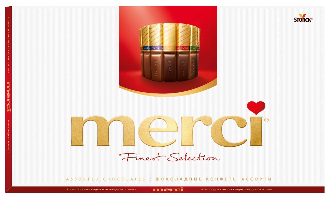 Merci Finest Selection конфеты ассорти, 400 г коркунов ассорти конфеты темный и молочный шоколад 110 г