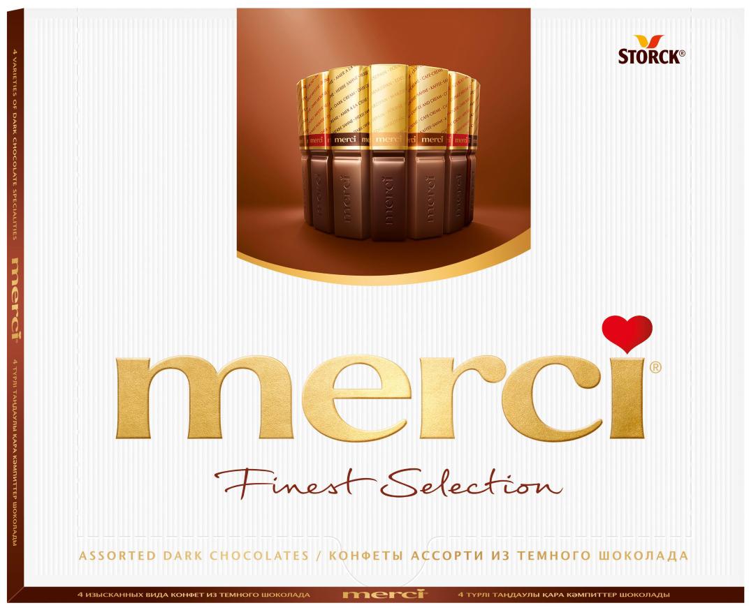 Merci Конфеты в темном шоколаде Ассорти, 250 г merci конфеты молочные ассорти 250 г
