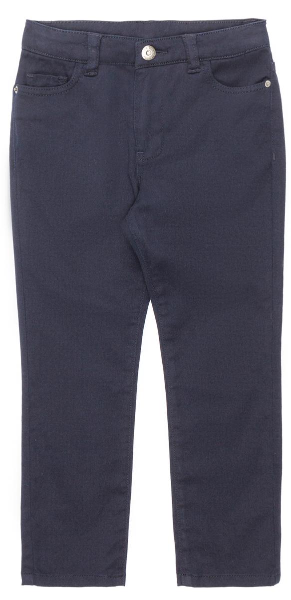 Брюки для мальчика Acoola Monti, цвет: темно-синий. 20110160139_600. Размер 14020110160139_600Стильные брюки Acoola идеально подойдут вашему ребенку. Изделие выполнено из качественного материала. Модель застегивается на комбинированную застежку. На поясе предусмотрены шлевки для ремня. Такие брюки займут достойное место в гардеробе вашего ребенка.