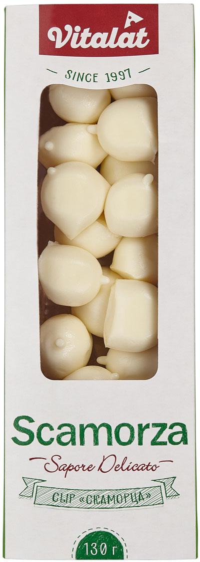 Vitalat Сыр Скаморца 40%, 130 г331-243Сыр Vitalat Скаморца выполнен в удобной упаковке для путешествий и быстрого перекуса.При подготовке застолья отличная экономия времени на сервировке.Вкусовые ощущения неотличимы от классической Скаморцы. Пищевая ценность 100 г: белка 17,7 г, жира 18,0 г.Энергетическая ценность: 233 Ккал.