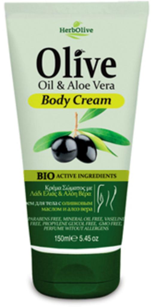 HerbOlive Крем для тела с алоэ вера 150 мл5200310401282Крем для тела с алоэ вера содержит оливковое и миндальное масла, активный экстракт органического Алоэ Вера, обогащен витамином Е. Обеспечивает свежесть и увлажнение кожи, делает ее гладкой и мягкой.