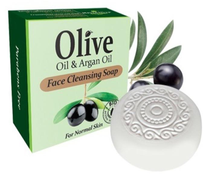 HerbOlive Мыло для умывания с маслом арганы для нормальной кожи 100 г5200310401824Мыло для умывания с маслом арганы содержит в своем составе природные антиоксиданты которые содержатся воливковом масле увлажняют ипитают кожу. Натуральное оливковое мыло, производится безискусственных красителей ихимических добавок, стимулируют новые клетки крегенерации изамедляет старение. Втожевремя смягчает кожу иоблегчает многие заболевания, включая акне, экзему.