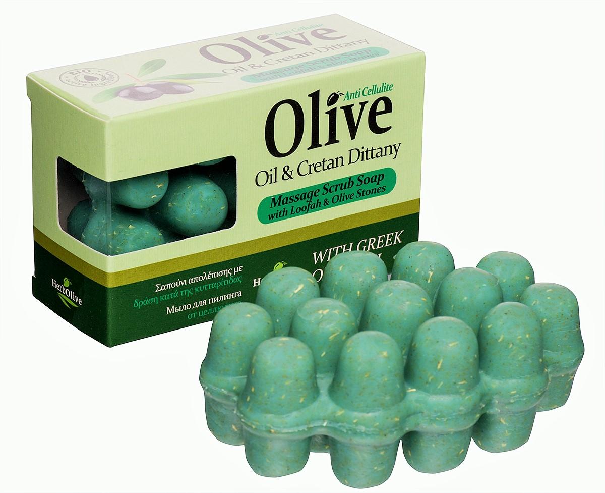 HerbOlive Массажное мыло для пилинга с диктамосом (критская душица) против целлюлита 100 г5200310402043Массажное мыло для пилинга с диктамосом (критская душица) против целлюлита содержит натуральные природные антиоксиданты которые увлажняют ипитают кожу. Натуральное оливковое мыло, производится безискусственных красителей ихимических добавок, стимулируют новые клетки крегенерации изамедляет старение. Специальная форма мыла нежно массирует проблемные участки, предотвращает появление и развитие целлюлита.
